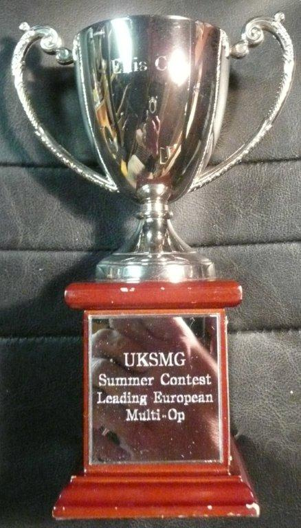 Ellis Cup, awarded to the leading Multi Operator station in the UKSMG Summer Es Contest