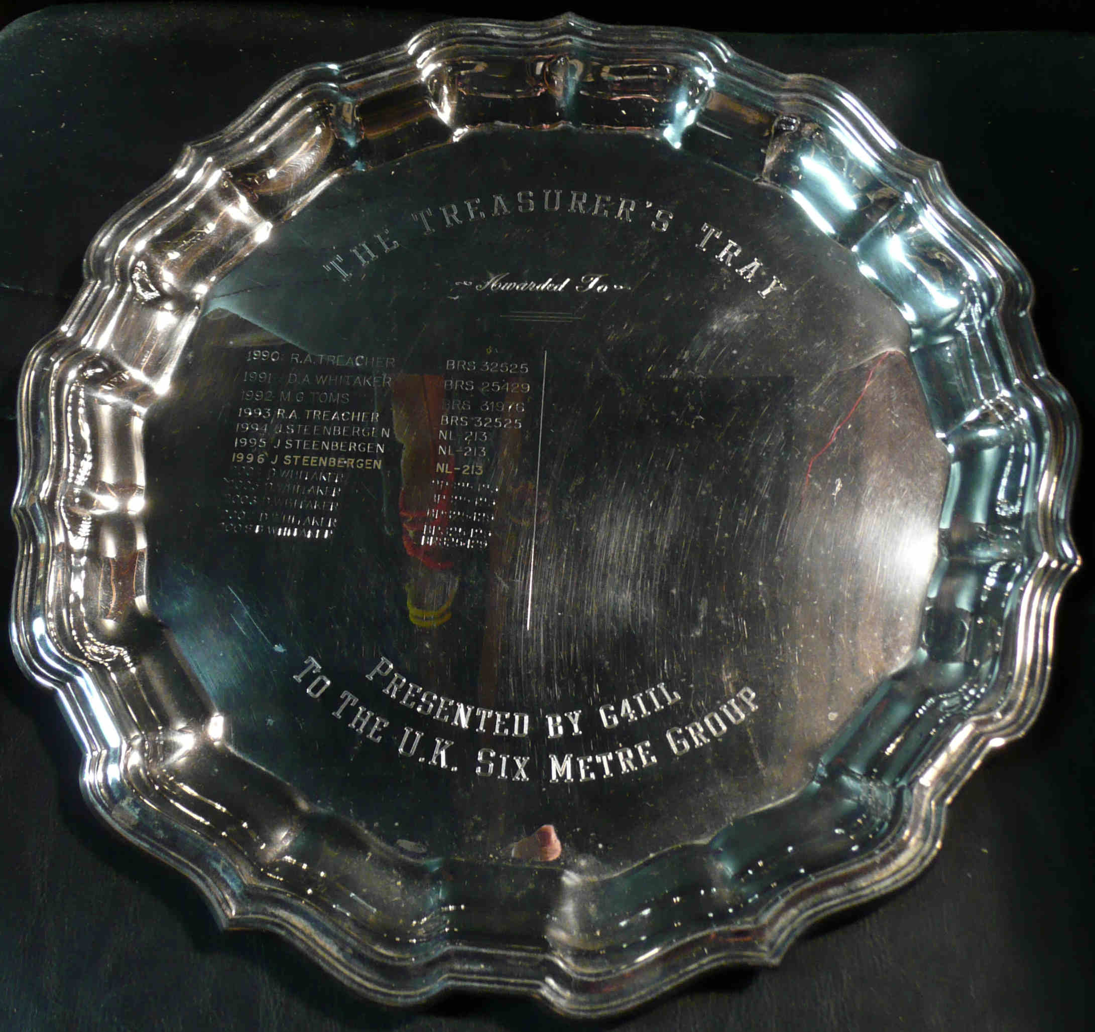 Treasurer's Tray, currently not awarded